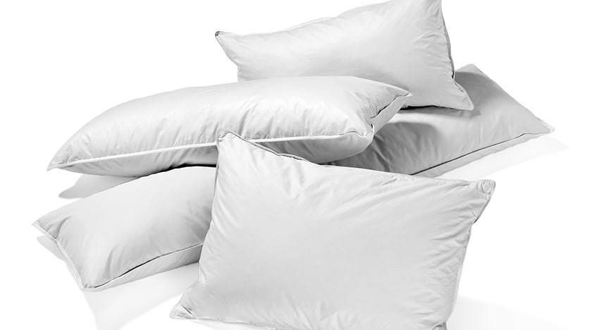 feather pillows isolated