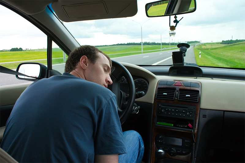 Drowsiness while driving can be a symptom of sleep apnea