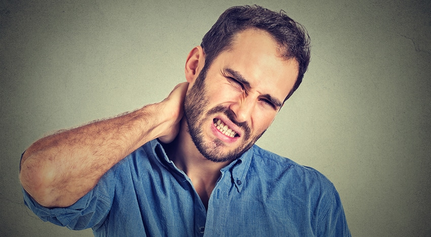 Neck pain is one of a few TMJ symptoms