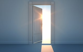 I shimmer of light coming through a doorway at night. Frequent urination at night caused by sleep apnea can be treated by Denver Sleep Dentist Dr. Berry.