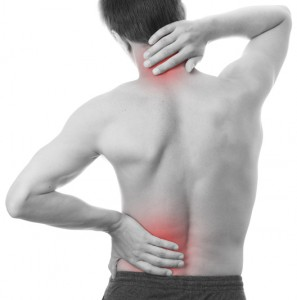 A man with neck and back pain